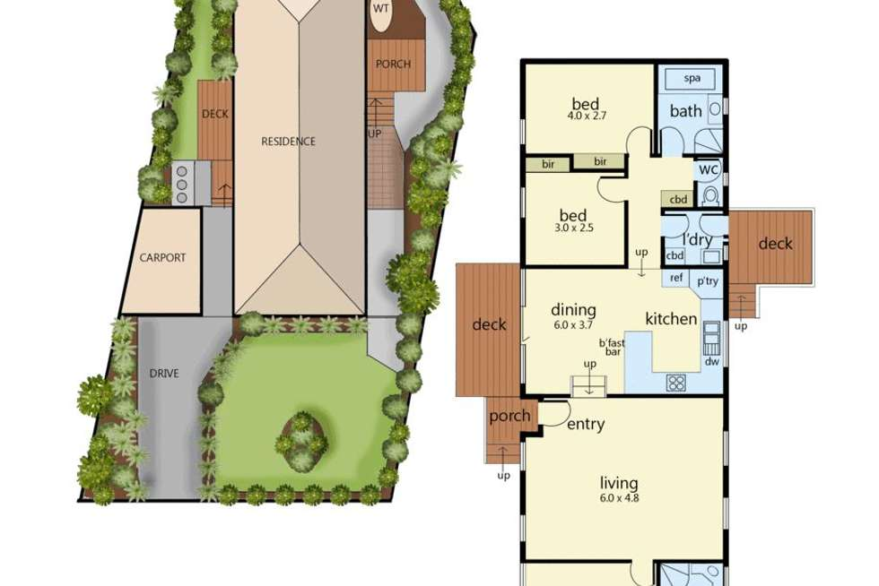 Floorplan of Homely unit listing, 24B Beech Street, Langwarrin VIC 3910