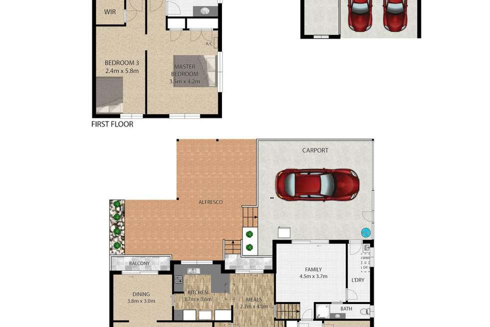 Floorplan of Homely house listing, 10 Stratford Court, Birkdale QLD 4159