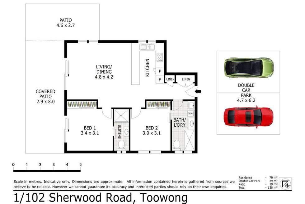 Floorplan of Homely unit listing, 1/102 Sherwood Road, Toowong QLD 4066