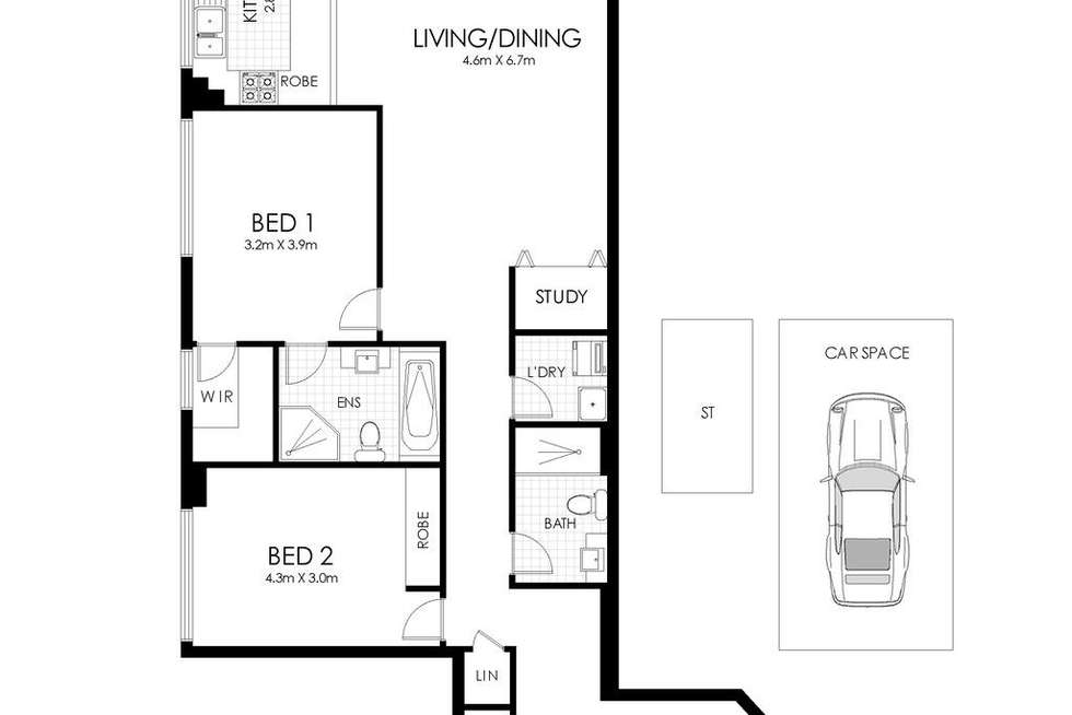 Floorplan of Homely apartment listing, 831/4 Marquet Street, Rhodes NSW 2138