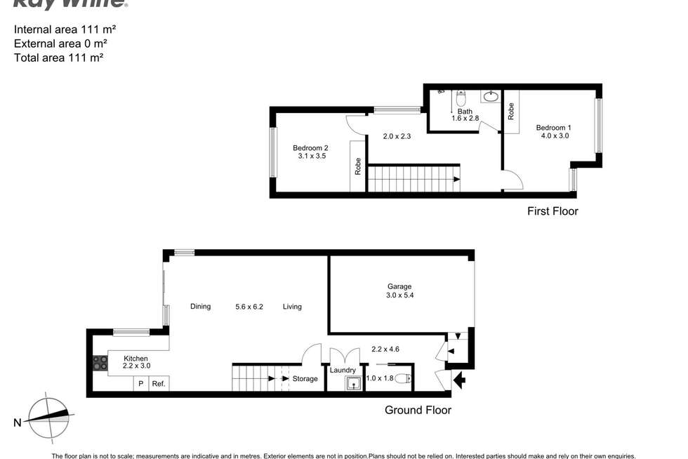 Floorplan of Homely townhouse listing, 8/97 Wallsend Street, Kahibah NSW 2290