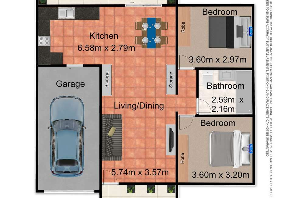 Floorplan of Homely unit listing, 1/576 Norman Road, Norman Gardens QLD 4701