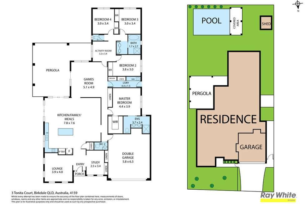 Floorplan of Homely house listing, 3 Tonita Court, Birkdale QLD 4159