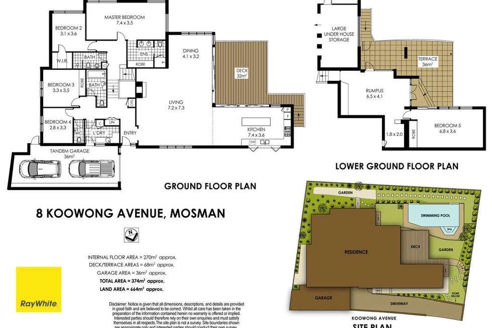 Floorplan of Homely house listing, 8 Koowong Avenue, Mosman NSW 2088