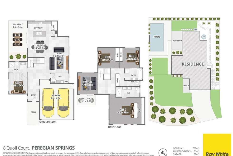 Floorplan of Homely house listing, 8 Quoll Court, Peregian Springs QLD 4573