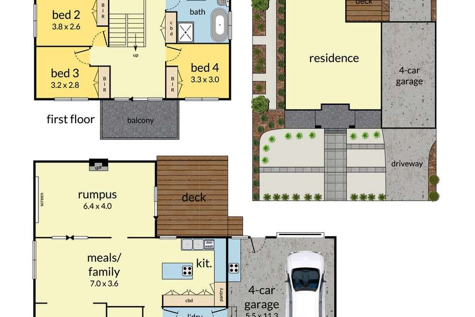Floorplan of Homely house listing, 96 Jacksons Road, Mulgrave VIC 3170