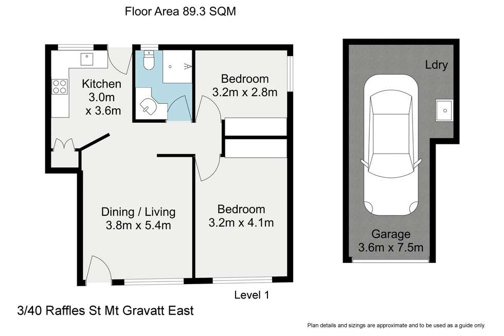 Floorplan of Homely unit listing, 3/40 Raffles Street, Mount Gravatt East QLD 4122