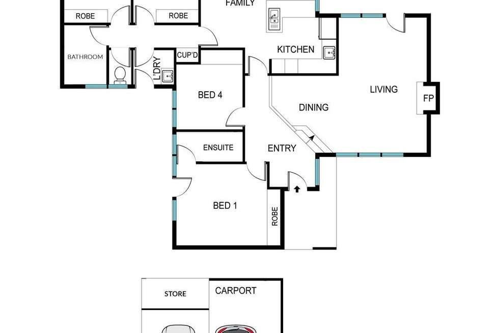 Floorplan of Homely house listing, 5/92 Crozier Circuit, Kambah ACT 2902