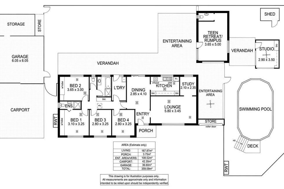 Floorplan of Homely house listing, 2 Vincent Crescent, Morphett Vale SA 5162