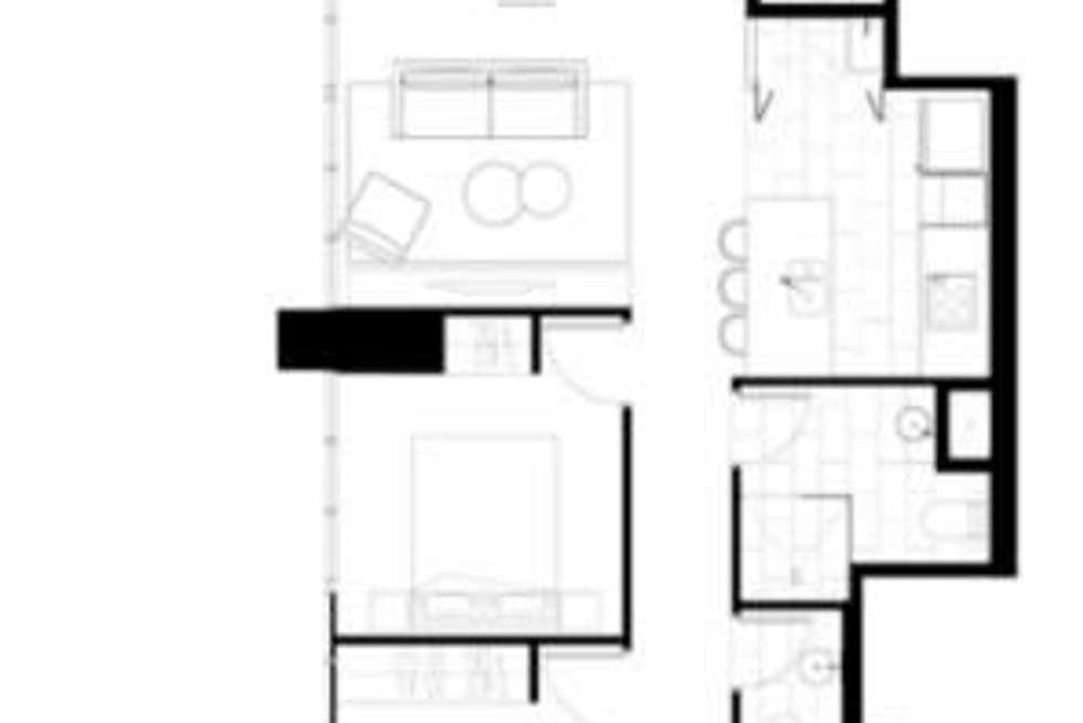 Floorplan of Homely apartment listing, 2201/2663 Gold Coast Highway, Broadbeach QLD 4218