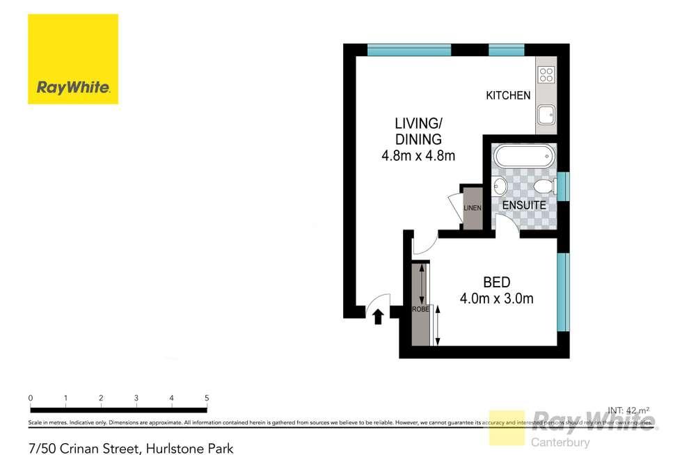 Floorplan of Homely unit listing, 7/50 Crinan Street, Hurlstone Park NSW 2193