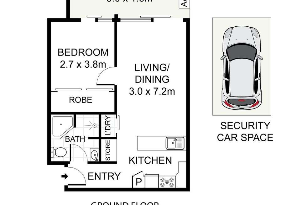 Floorplan of Homely apartment listing, 109/34-52 Alison Road, Randwick NSW 2031