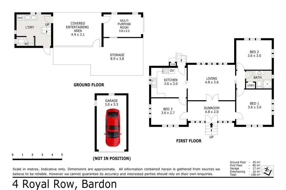 Floorplan of Homely house listing, 4 Royal Row, Bardon QLD 4065