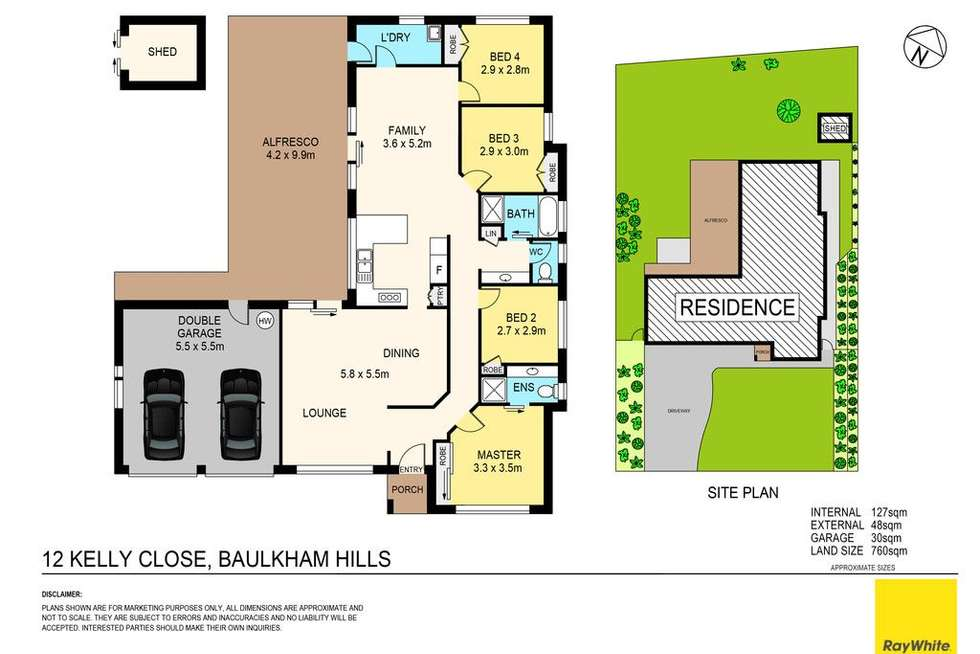 Floorplan of Homely house listing, 12 Kelly Close, Baulkham Hills NSW 2153
