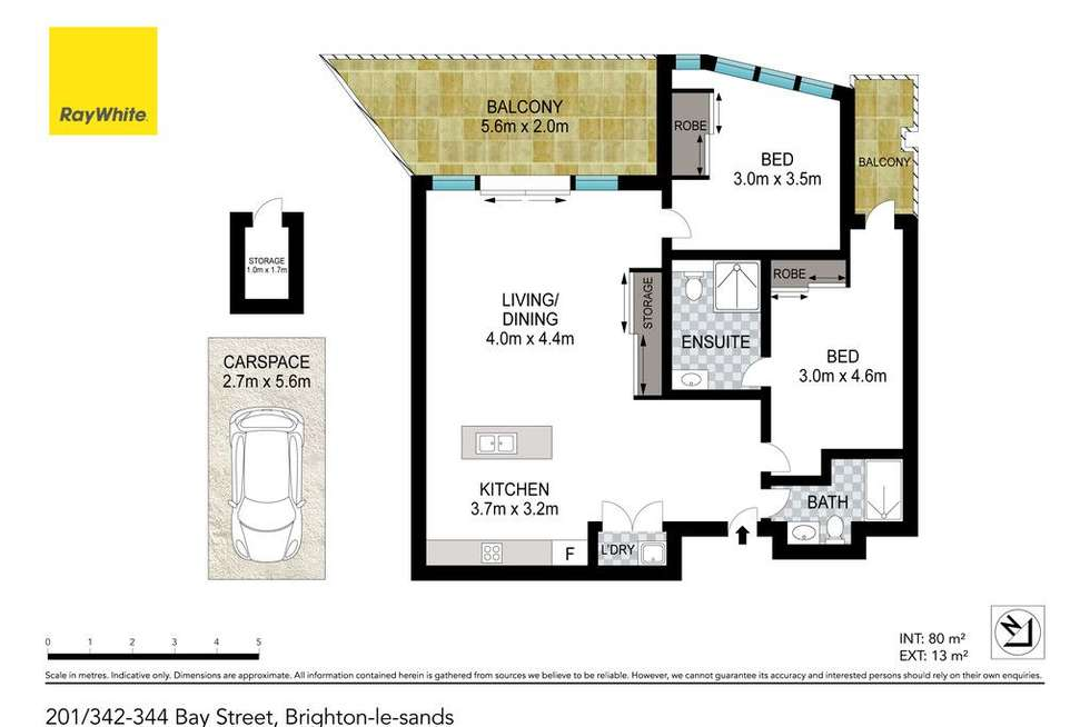 Floorplan of Homely apartment listing, 201/342 Bay Street, Brighton-le-sands NSW 2216