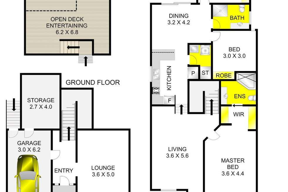 Floorplan of Homely house listing, 33 Queens Park Road, Highton VIC 3216