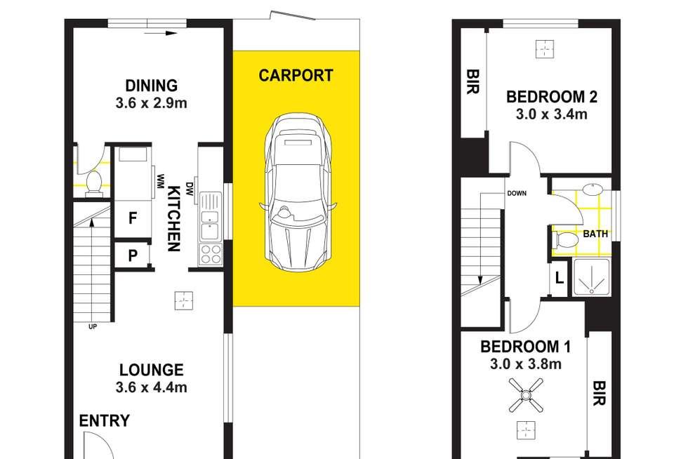 Floorplan of Homely townhouse listing, 3/6 Sedunary Road, Morphett Vale SA 5162