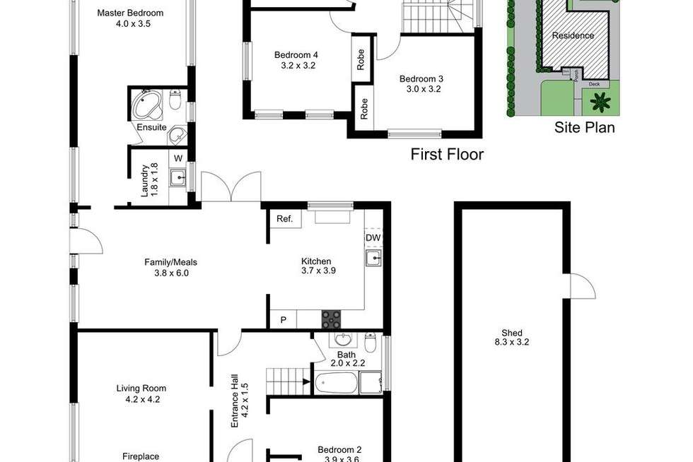 Floorplan of Homely house listing, 4 Geofrey Street, Frankston VIC 3199