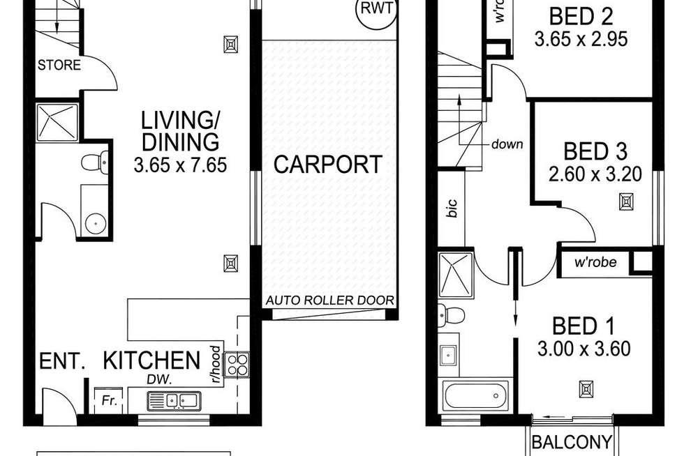Floorplan of Homely house listing, 23B Grazing Avenue, Morphett Vale SA 5162