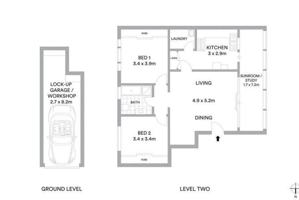 Floorplan of Homely apartment listing, 6/2 Kynaston Avenue, Randwick NSW 2031