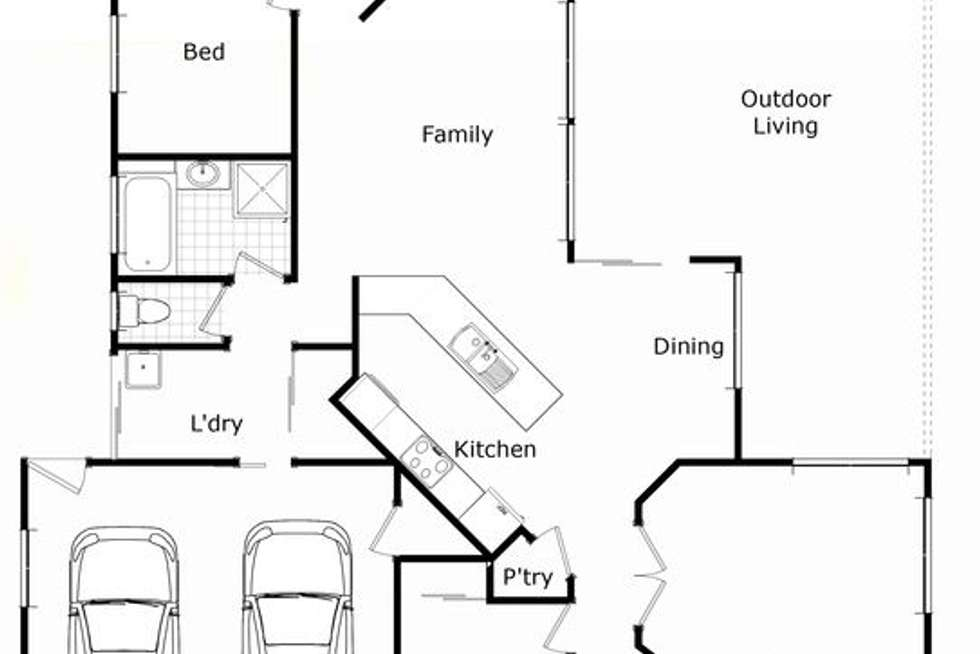 Floorplan of Homely house listing, 7 Falconer Court, Rangeville QLD 4350