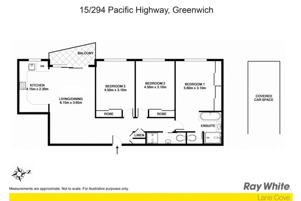 Floorplan of Homely apartment listing, 15/294-296 Pacific Highway, Greenwich NSW 2065