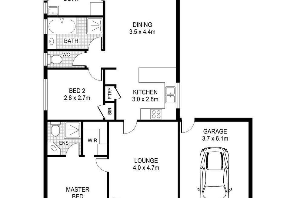 Floorplan of Homely house listing, 3 Clearview Court, Hoppers Crossing VIC 3029