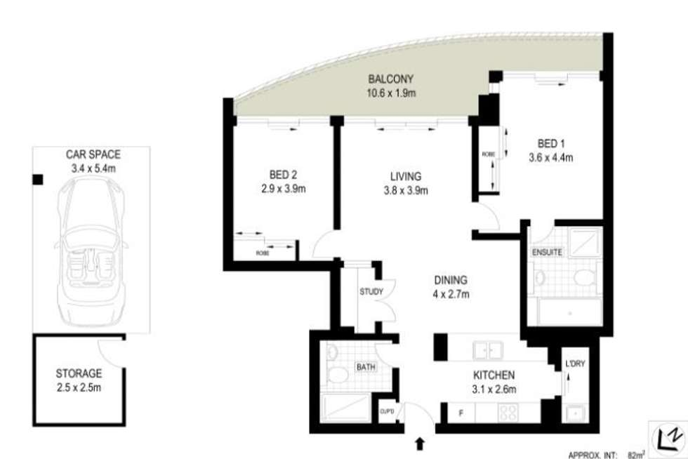 Floorplan of Homely apartment listing, 1203/87 Shoreline Drive, Rhodes NSW 2138