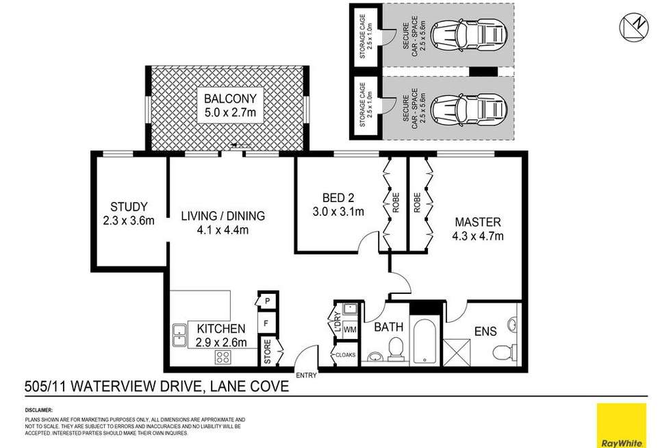 Floorplan of Homely apartment listing, 505/11 Waterview Drive, Lane Cove NSW 2066
