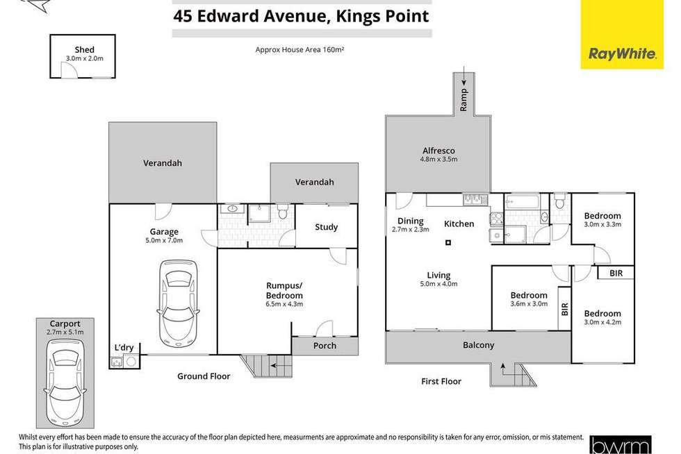 Floorplan of Homely house listing, 45 Edward Avenue, Kings Point NSW 2539