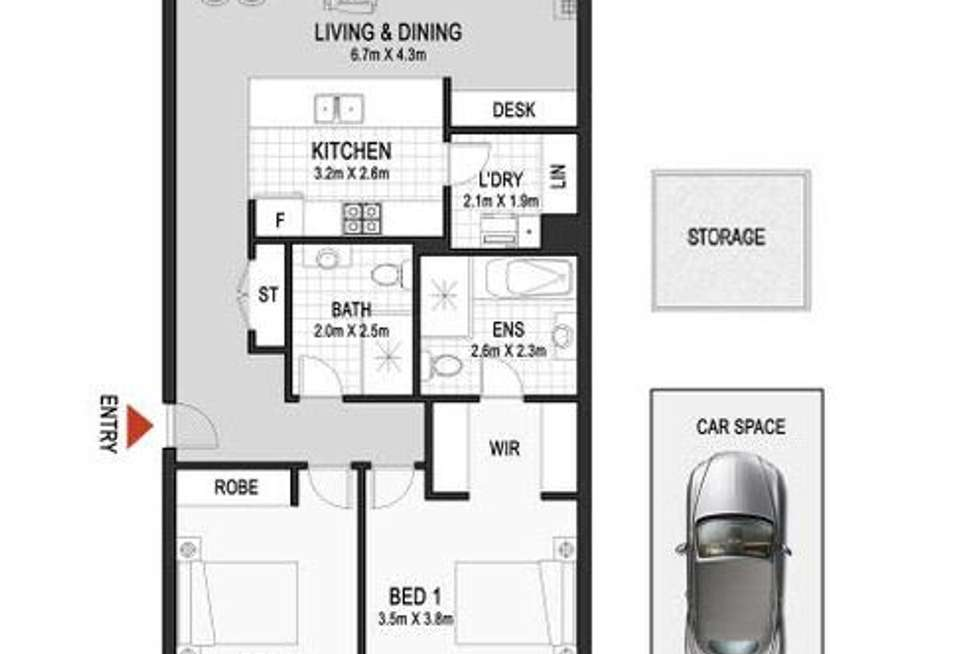 Floorplan of Homely apartment listing, 303/9 Sevier Avenue, Rhodes NSW 2138