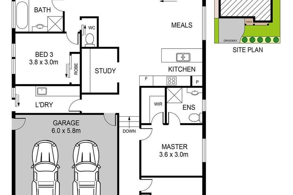 Floorplan of Homely house listing, 8 Homestead Lane, Riverstone NSW 2765