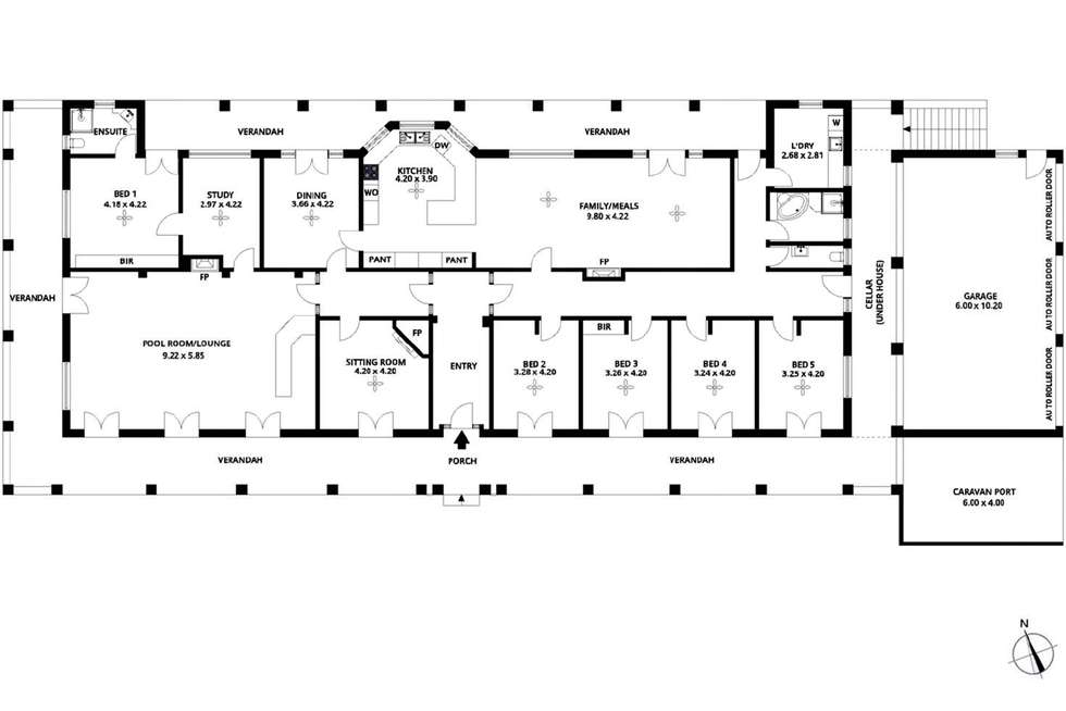 Floorplan of Homely house listing, 96 Burns Road, Inglewood SA 5133