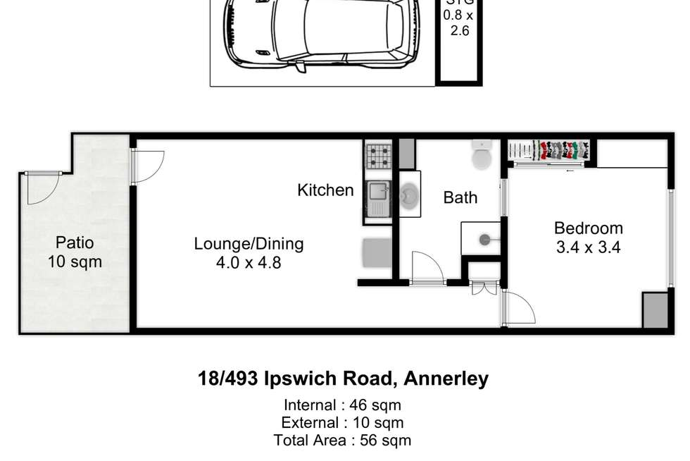 Floorplan of Homely unit listing, 18/493 Ipswich Road, Annerley QLD 4103