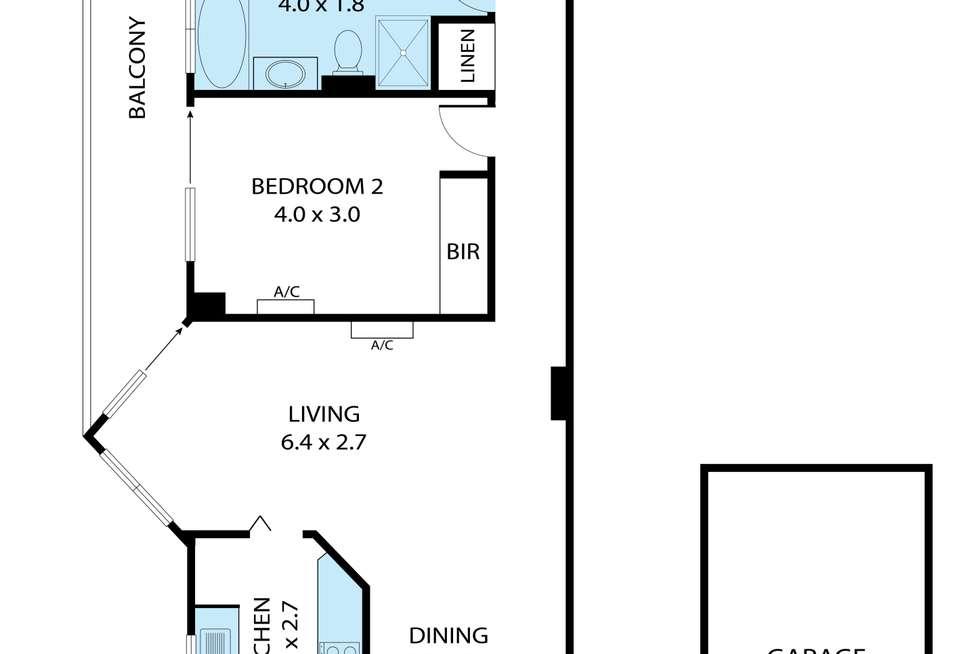 Floorplan of Homely unit listing, 27/314-324 Bay Street, Brighton-Le-Sands NSW 2216