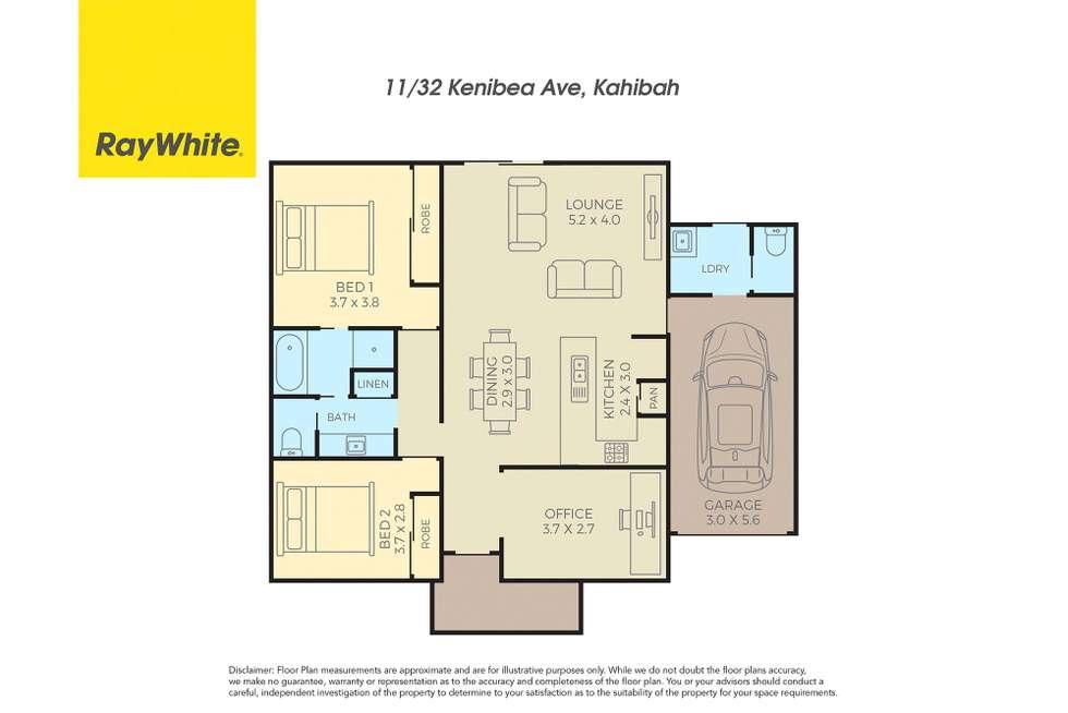 Floorplan of Homely villa listing, 11/32 Kenibea Avenue, Kahibah NSW 2290