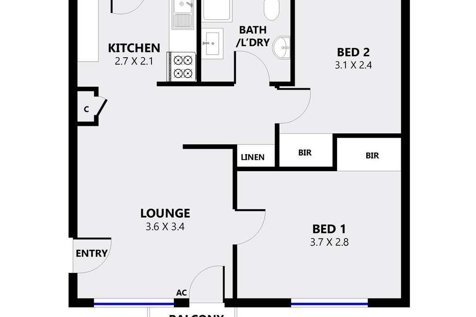 Floorplan of Homely unit listing, 5/49 Duthy Street, Malvern SA 5061