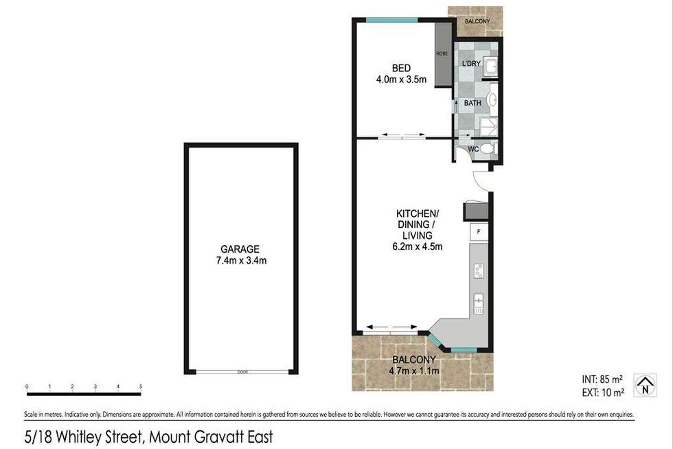 Floorplan of Homely unit listing, 5/18 Whitley Street, Mount Gravatt East QLD 4122