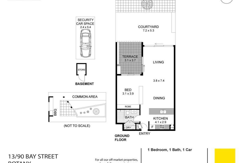 Floorplan of Homely studio listing, 13/90-92 Bay Street, Botany NSW 2019