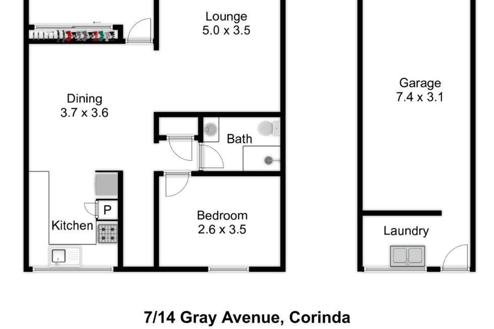 Floorplan of Homely unit listing, 7/14 Gray Avenue, Corinda QLD 4075