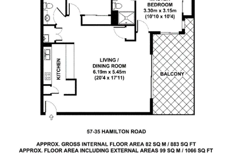 Floorplan of Homely unit listing, 57/35 Hamilton Road, Moorooka QLD 4105