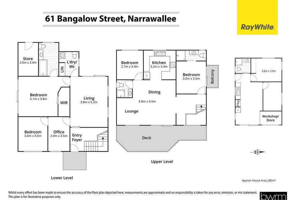 Floorplan of Homely house listing, 61 Bangalow Street, Narrawallee NSW 2539