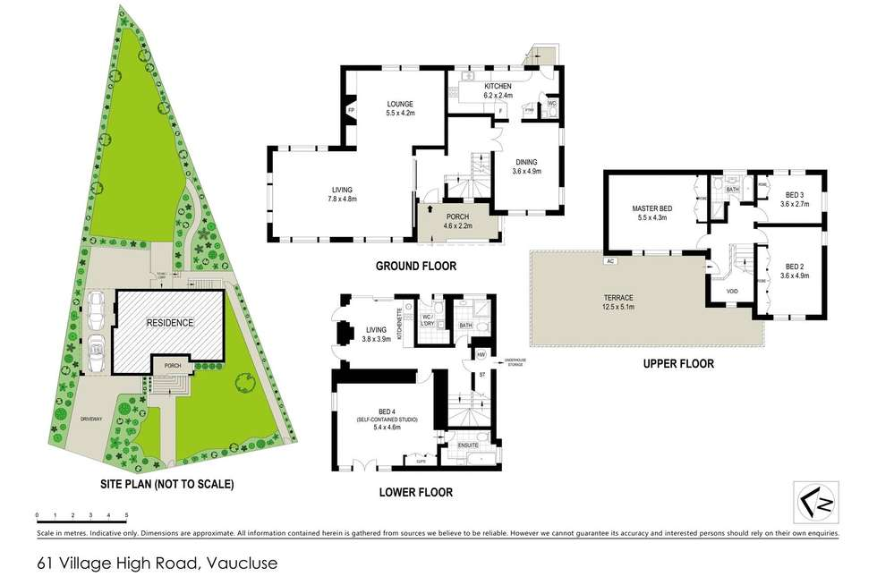 Floorplan of Homely house listing, 61 Village High Road, Vaucluse NSW 2030
