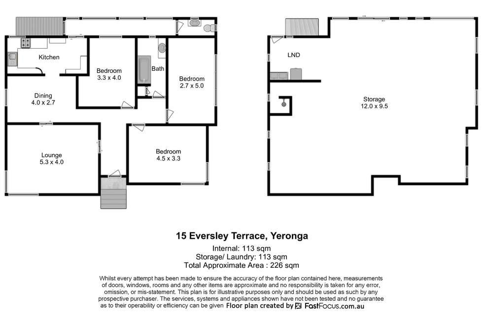 Floorplan of Homely house listing, 15 Eversley Terrace, Yeronga QLD 4104