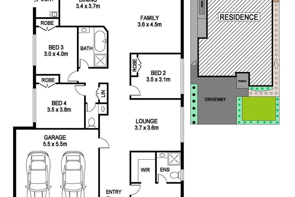 Floorplan of Homely house listing, 13 Horizon Street, Riverstone NSW 2765
