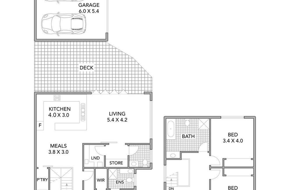 Floorplan of Homely townhouse listing, 1/923 Pascoe Vale Road, Glenroy VIC 3046