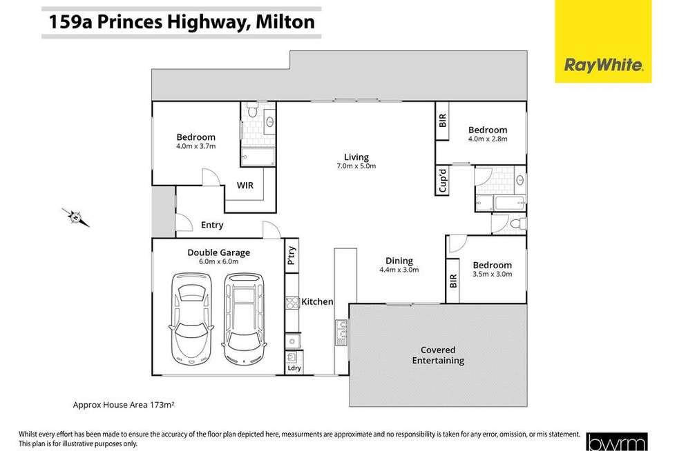 Floorplan of Homely house listing, 159a Princes Highway, Milton NSW 2538