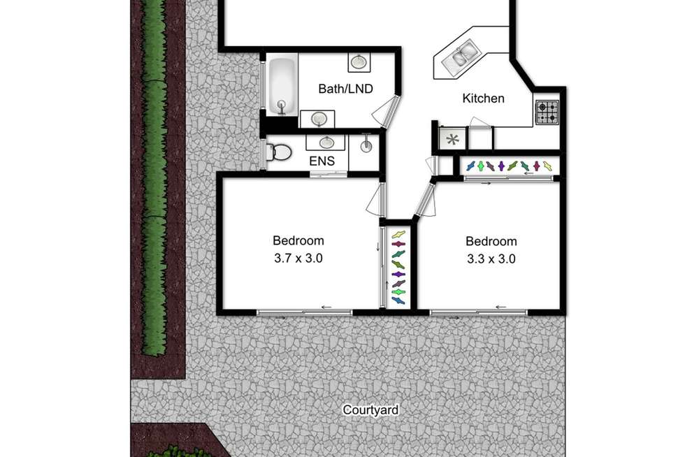 Floorplan of Homely townhouse listing, 4/49 Hood Street, Sherwood QLD 4075