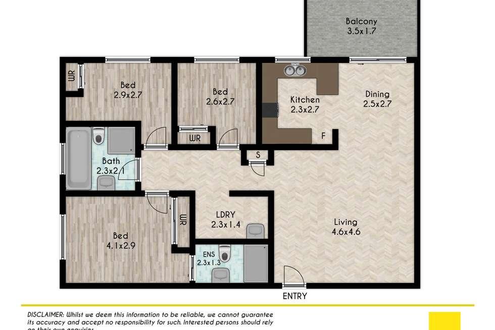 Floorplan of Homely apartment listing, 6/26-28 Paton Street, Merrylands NSW 2160