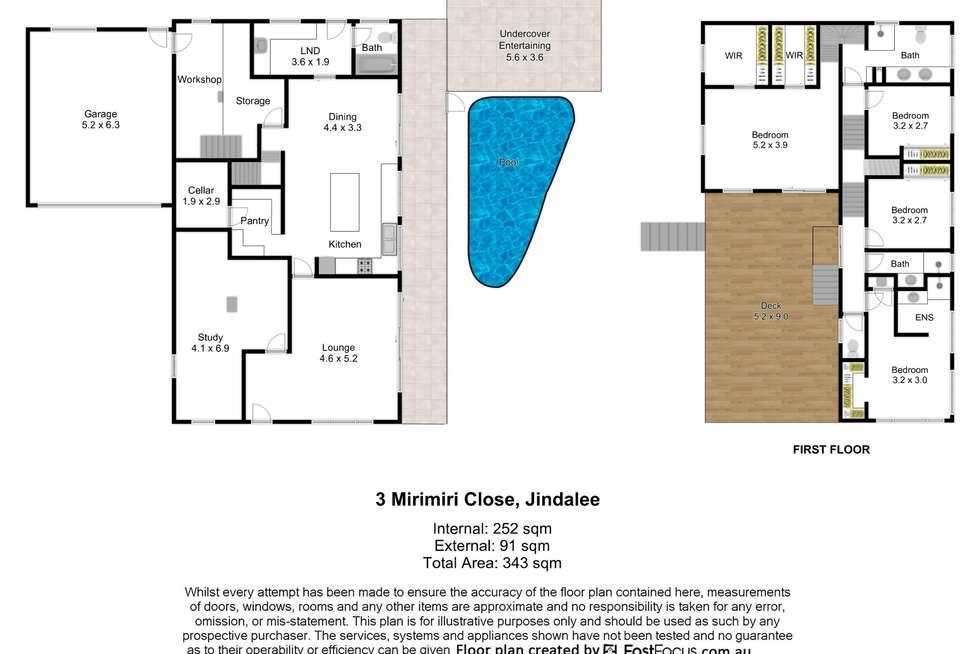 Floorplan of Homely house listing, 3 Mirimiri Close, Jindalee QLD 4074